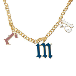 Statement Enamel Initial Necklace