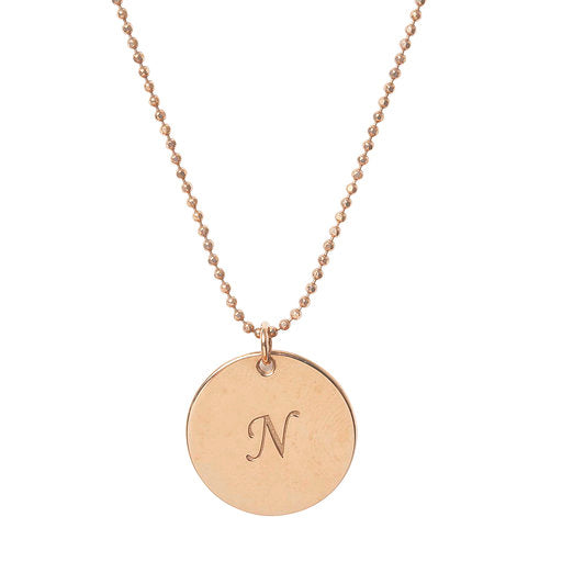 Initial N Disc Necklace