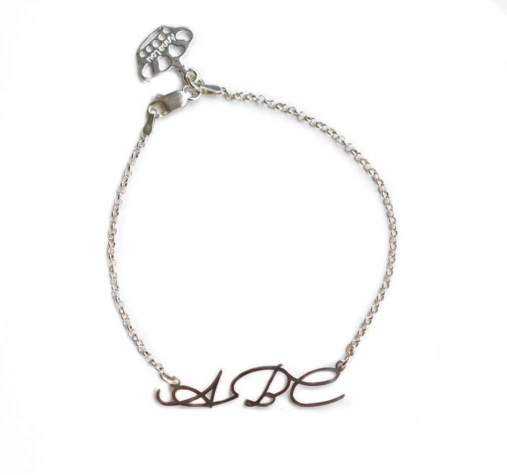 Signature Handwriting Name Bracelet