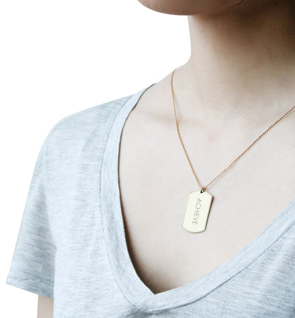 Achieve Tag Necklace