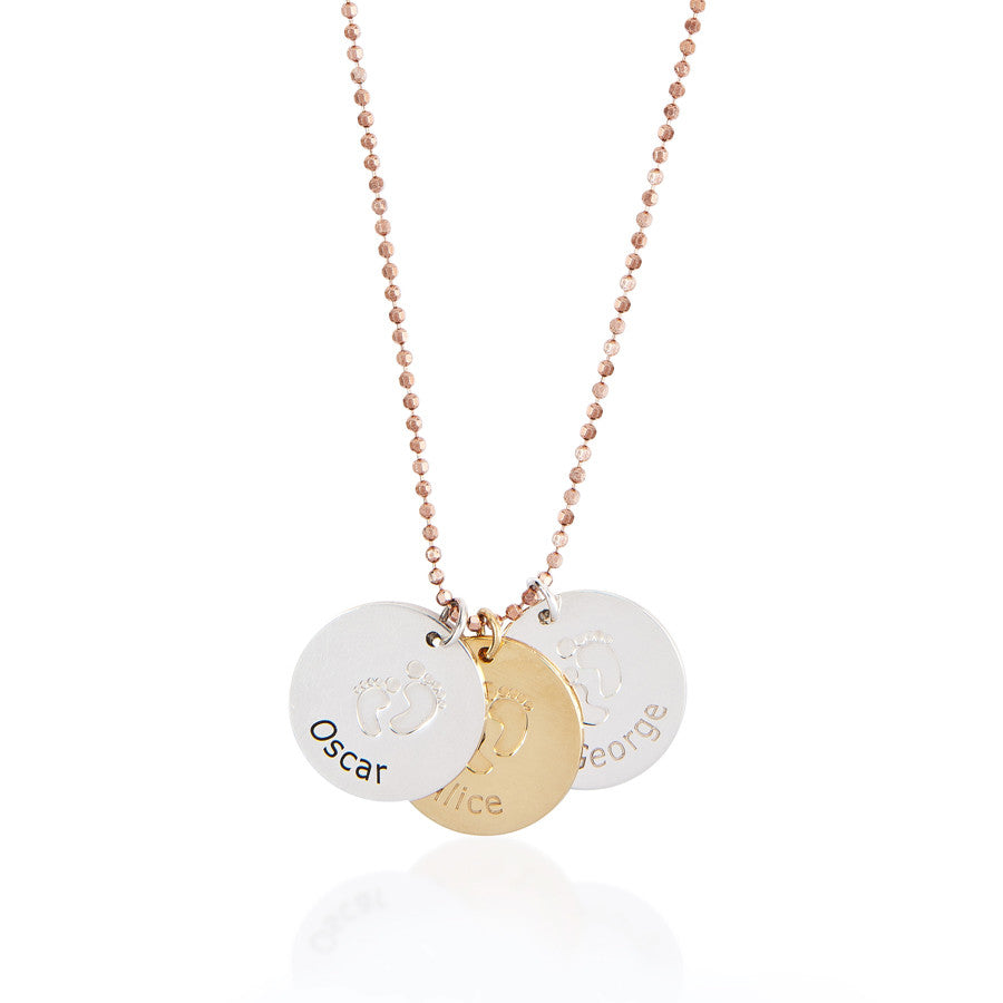 Baby Steps Footprint Necklace