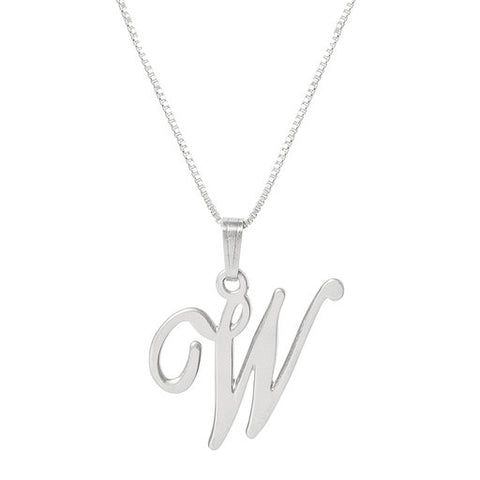 Initial W Necklace- Available Now