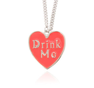 Disney Drink Me Enamel Necklace