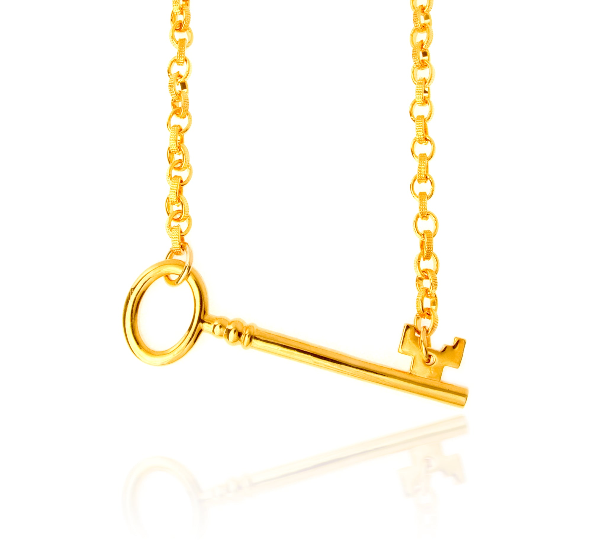 Disney Gold Key Necklace