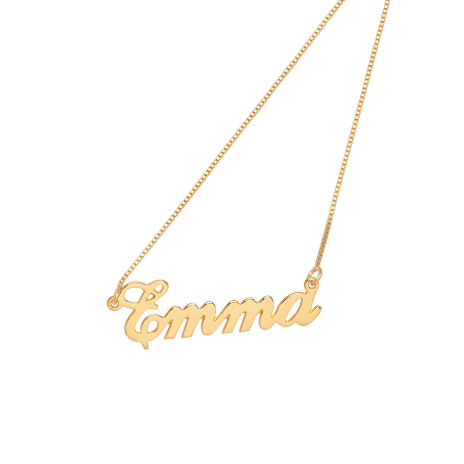 chains personalized our persjewel gold collection vertical solid baby fashion jewelry with name necklace custom heart