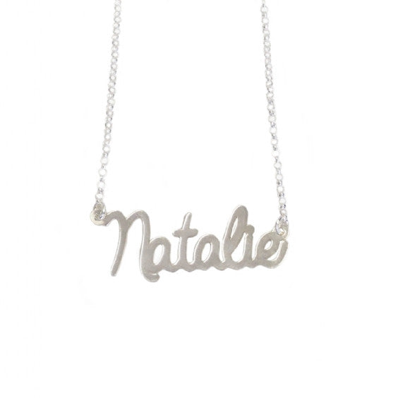 script olive sterling customized silver custom handwritten piper necklace gold plate name products