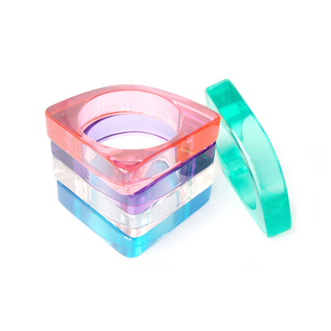 Fan Transparent Bangle