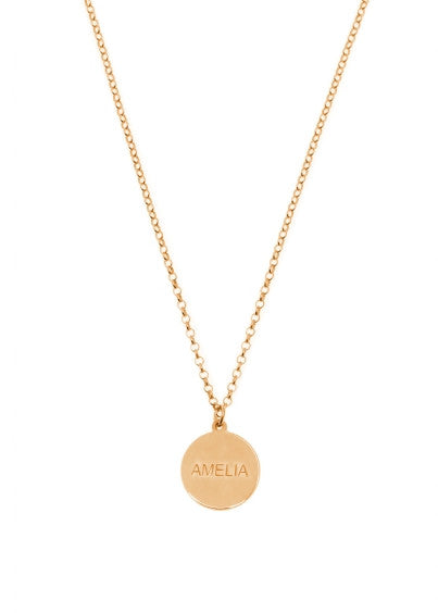 Name Disc Necklace
