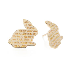 Lucky Rabbit Studs