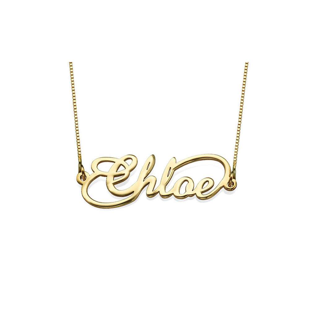 Solid Gold Infinity Name Necklace