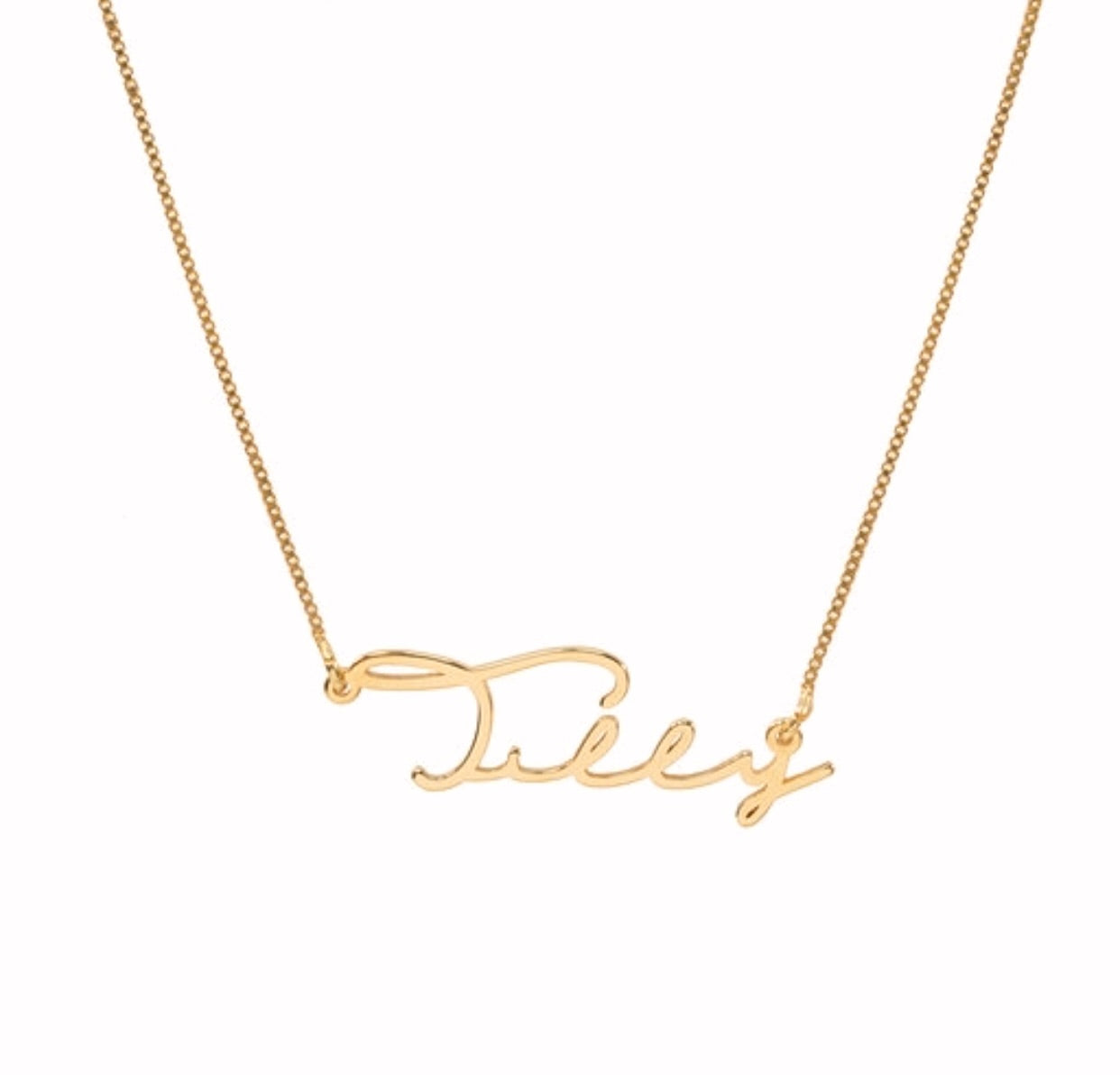Tilly Signature Handwriting Name Necklace