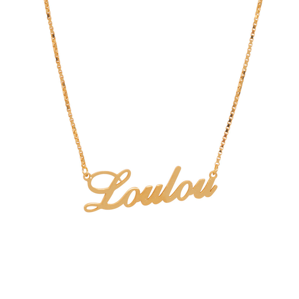 Loulou Name necklace