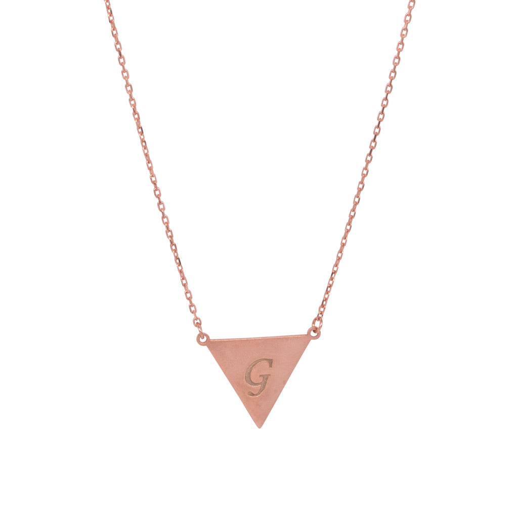 Bunting Initial Necklace