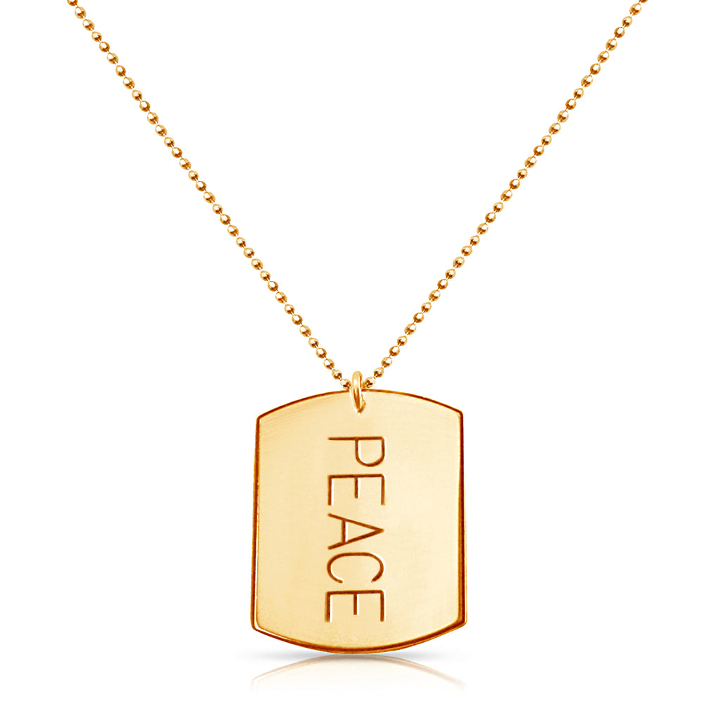 Peace Tag Necklace