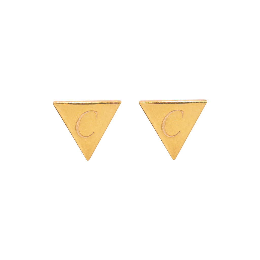 Bunting Initial Stud Earrings