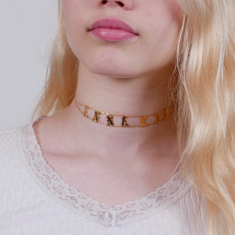 Personalised Old English Choker Necklace