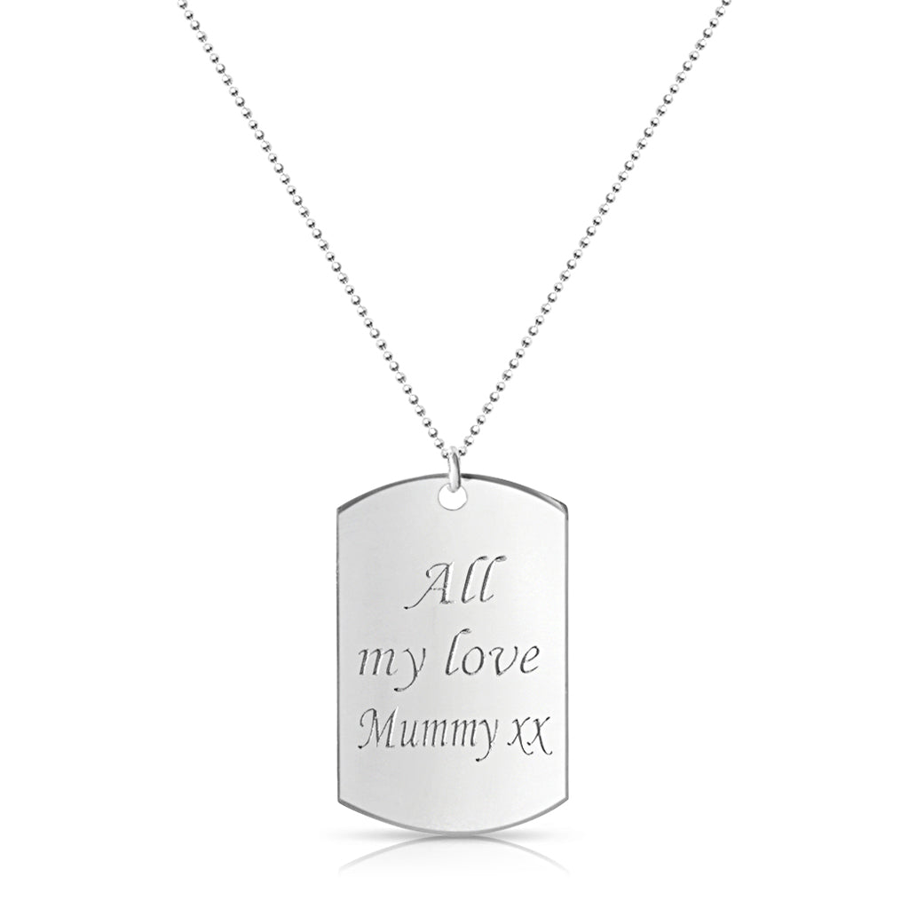 Inspirational Tag Necklace