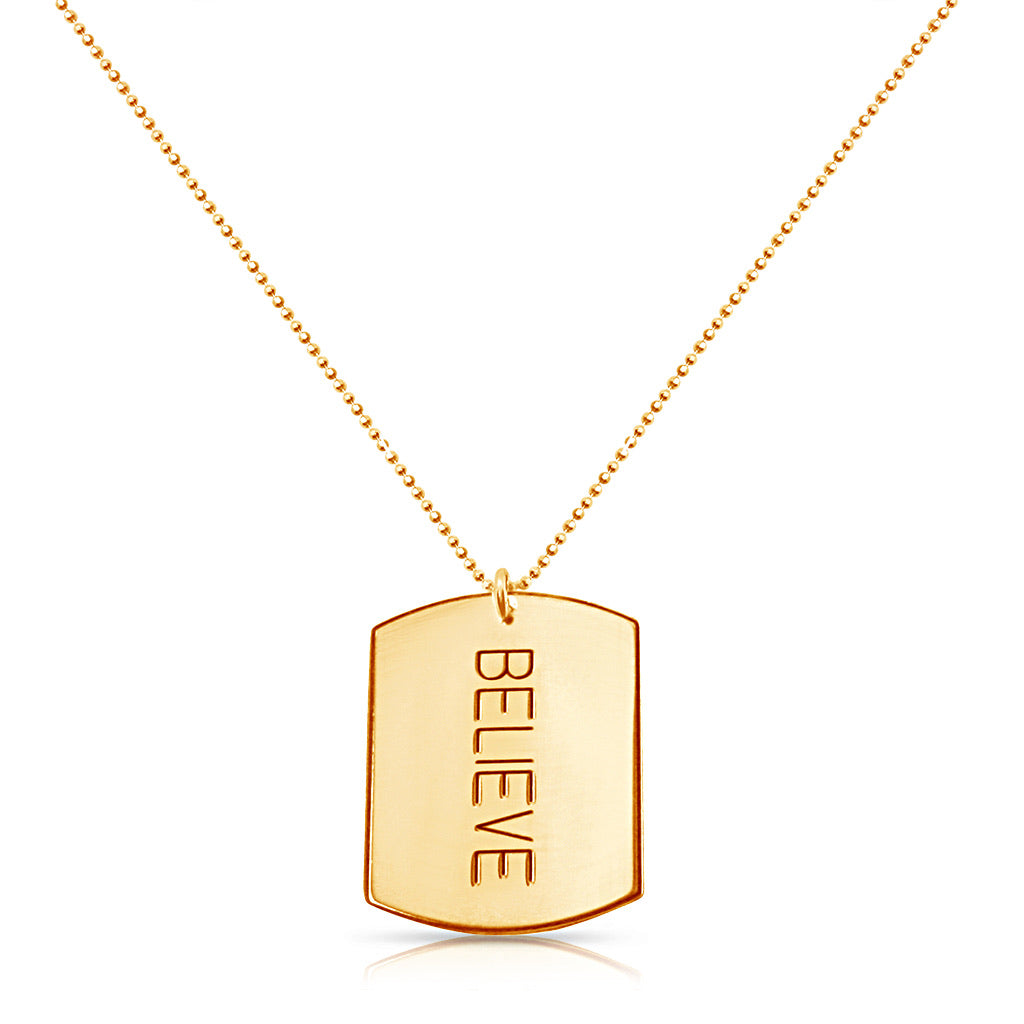 Believe Tag Necklace