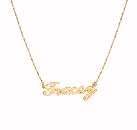 Tracey Name necklace