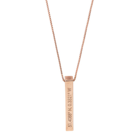 Personalised Coordinates Bar Necklace