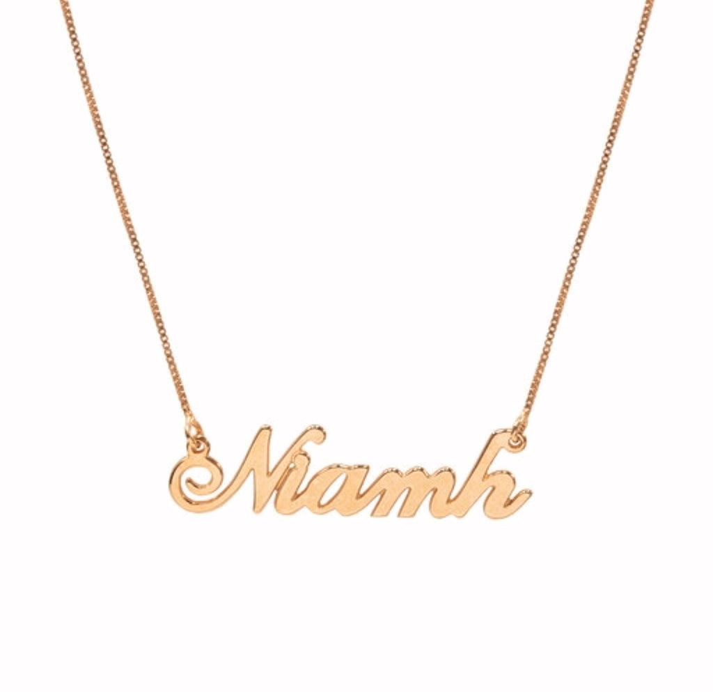 Niamh Name necklace