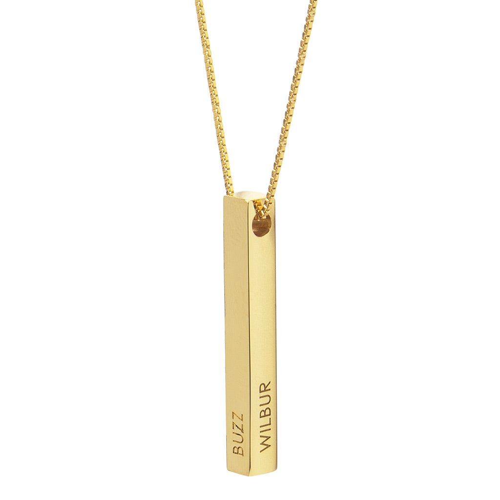 Personalised Vertical Bar Necklace