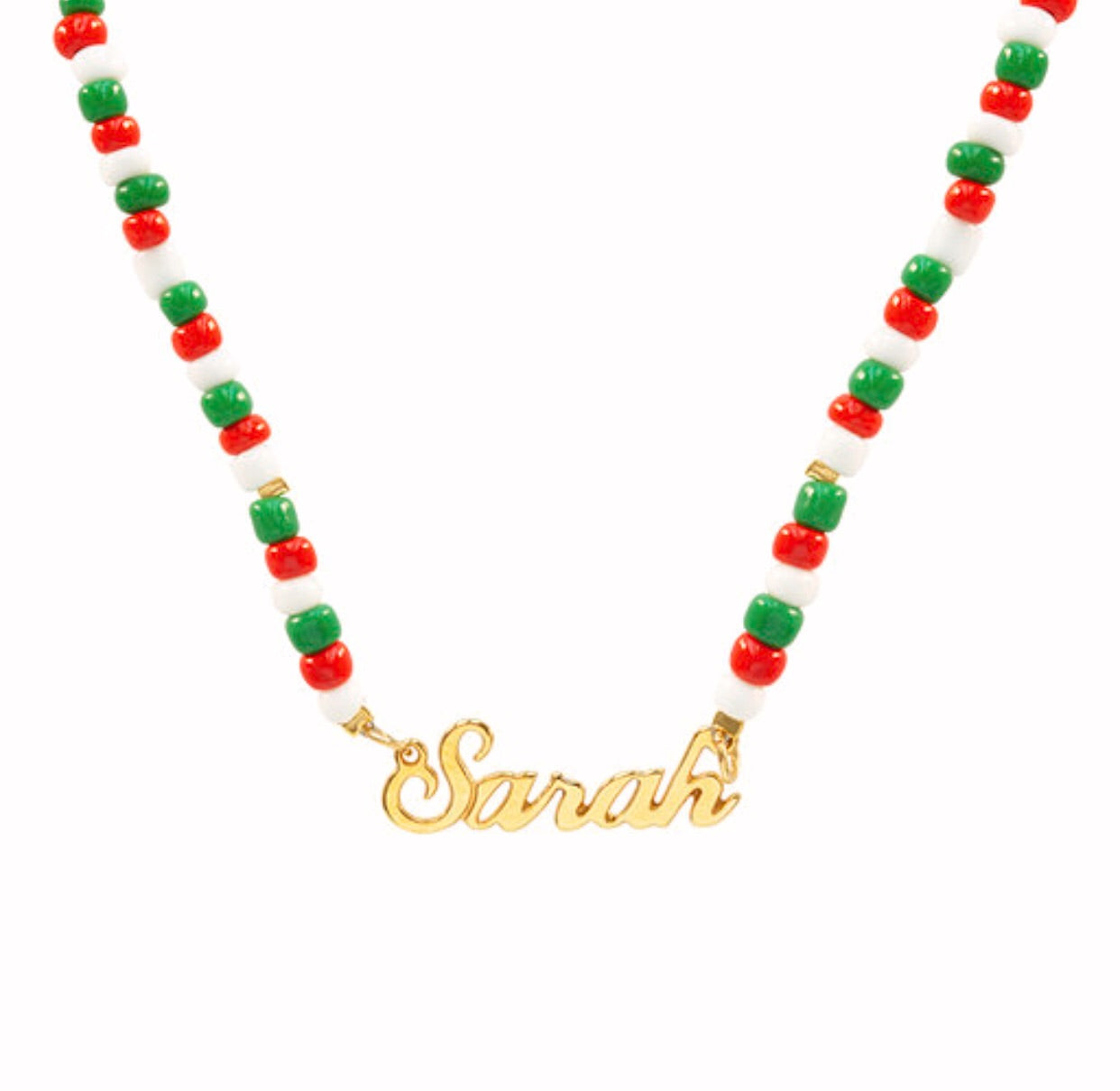 Festive Beaded Name Necklace