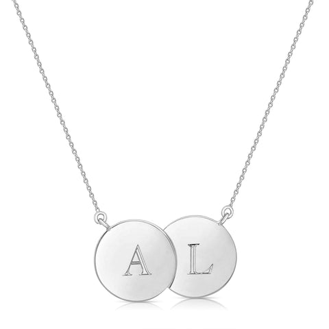 Double Disc Capital Letter Necklace