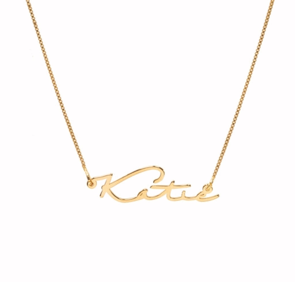 Katie Signature Handwriting Name Necklace