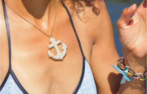Gold Anchor Necklace