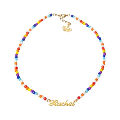 Candy Beaded Name Necklace