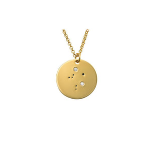 Libra Constellation Diamond Necklace