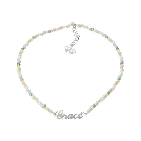 Pastel Beaded Name Necklace