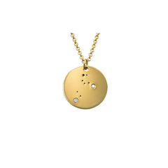 Leo Constellation Diamond Necklace