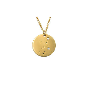 Virgo Constellation Diamond Necklace