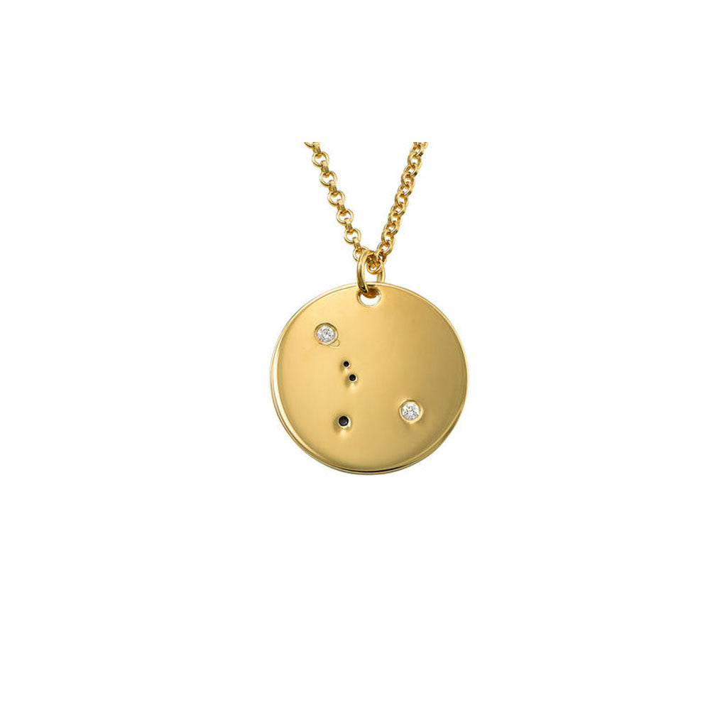 Rose Gold-plated Silver 19mm Zodiac Cancer Pendant