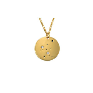 Aquarius Constellation Diamond Necklace.