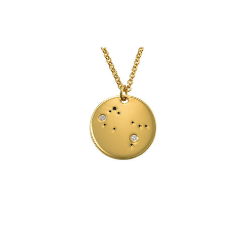 Gemini Constellation Diamond Necklace