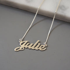 Julie Name Necklace