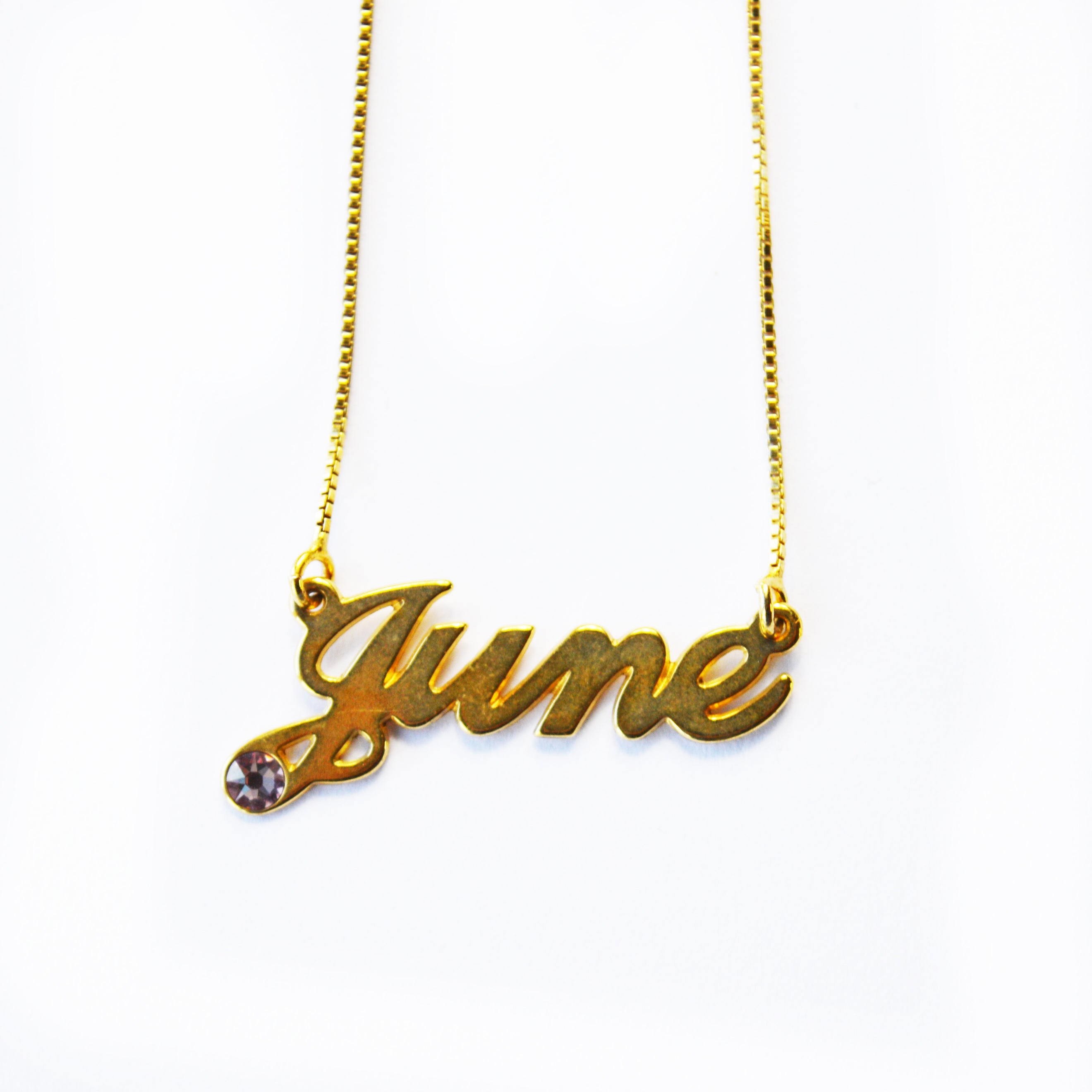 June Name Necklace