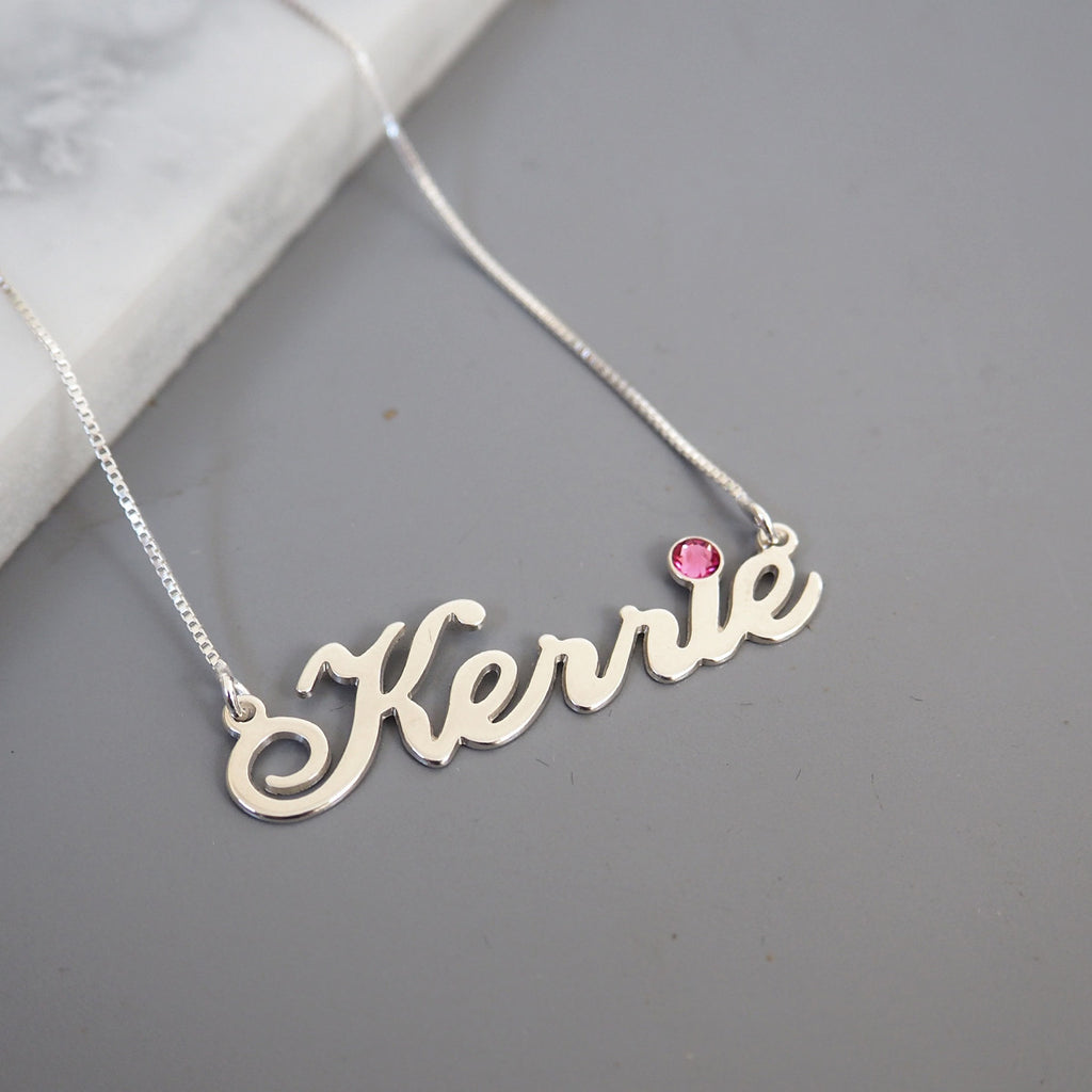 Kerrie Name Birthstone Necklace