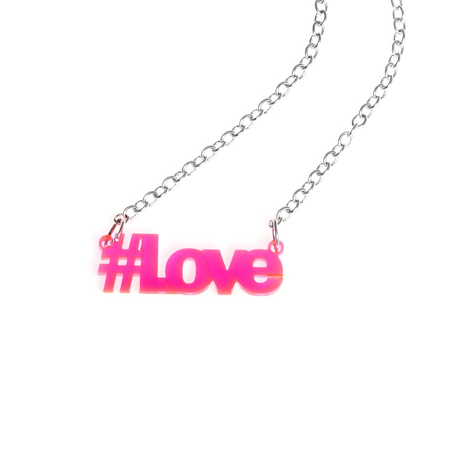 Aryclic Hashtag Necklace