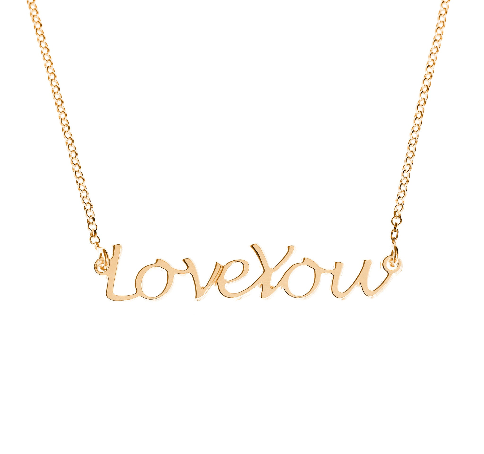 Handwritten Love You Necklace