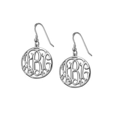 Monogram Hoop Earrings
