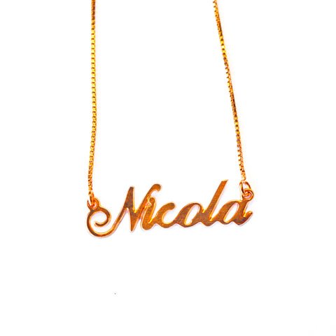 Nicola Name Necklace