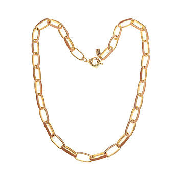 Chain link Enamel Necklace