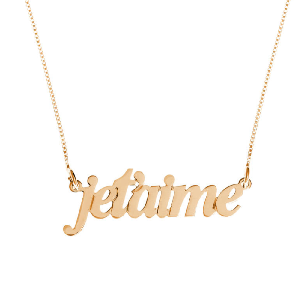 French Name Necklace