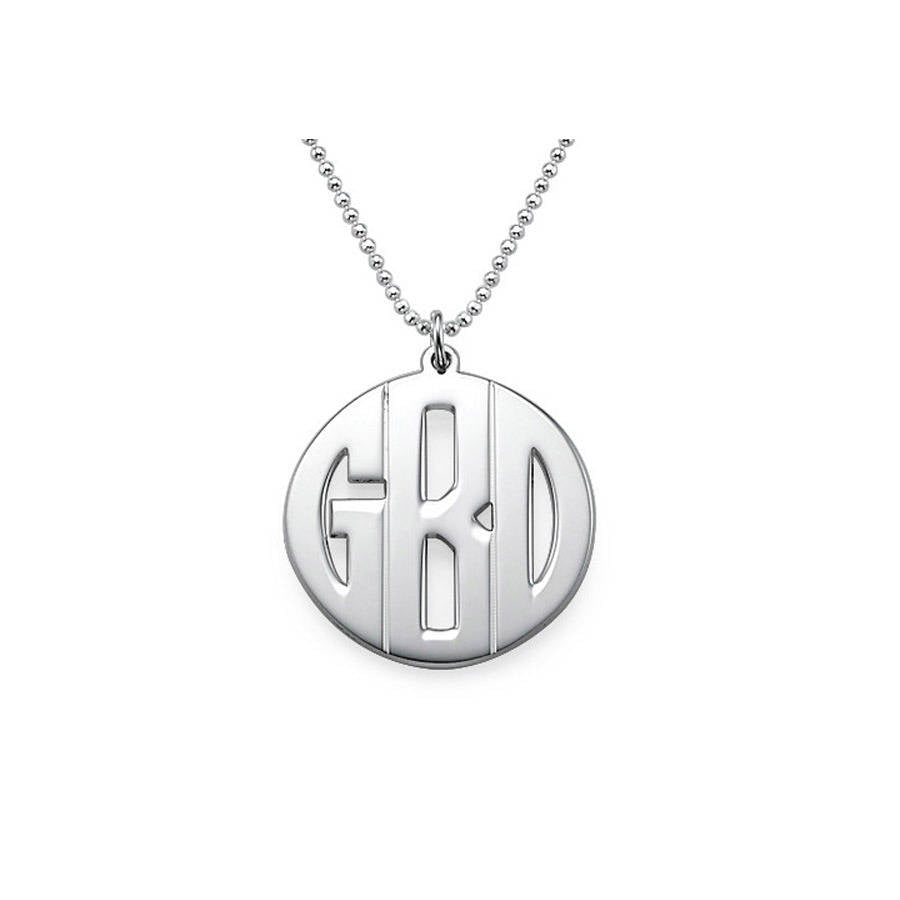Personalised Men's Monogram Necklace