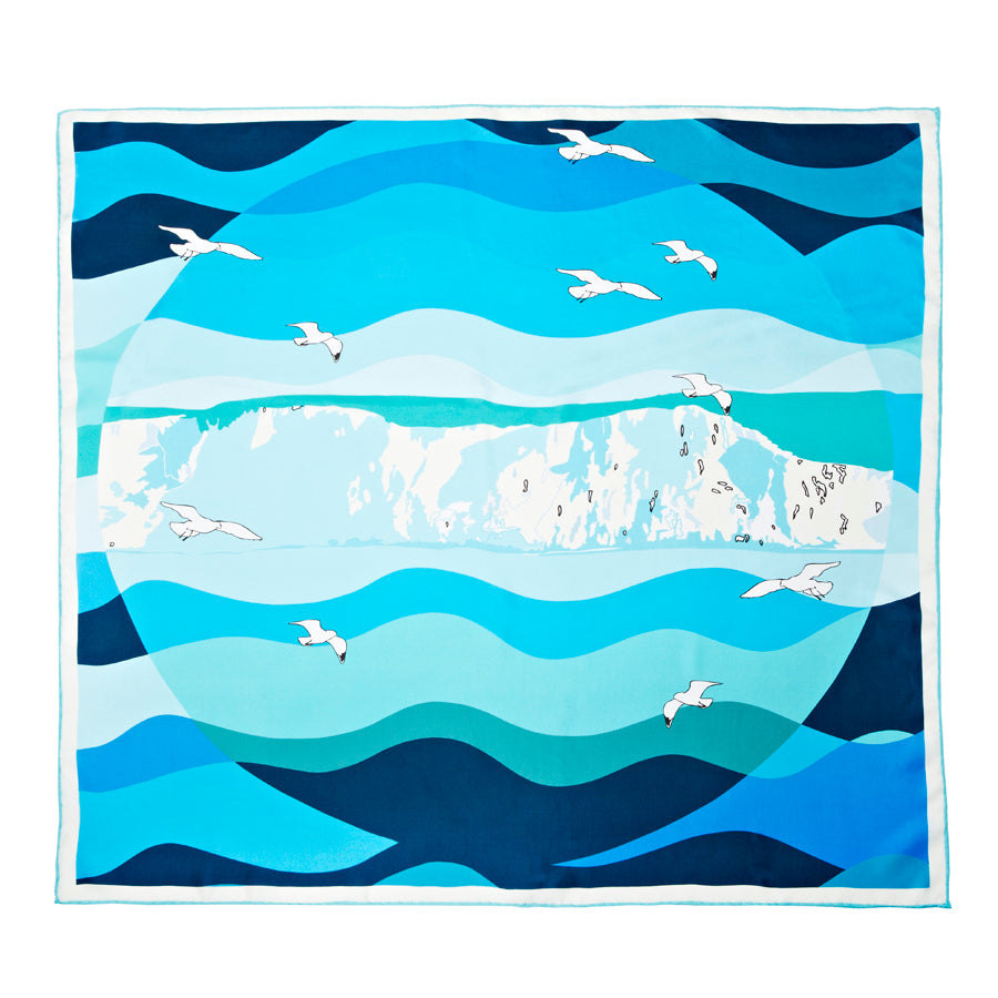 Cliffs of Dover Silk Scarf