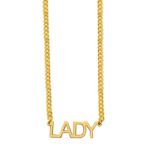 Capital Name/Word Necklace